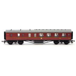 57 ft Stanier cooridor brake LMS Maroon Lined