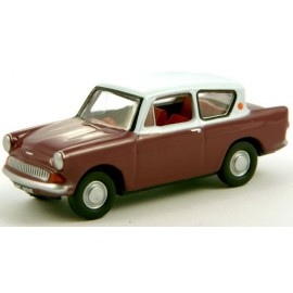 Anglia Car Maroon Grey Roof