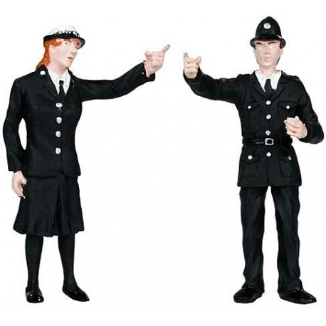 G scale (Garden) Police & Security Staff(2) One Man One Woman by Bachmann
