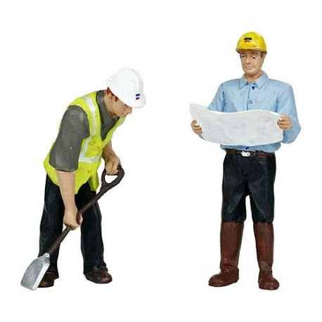 G scale (Garden) Civil Engineers(2) Two Men by Bachmann