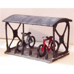 N Gauge Bike Shed & 2 Bikes