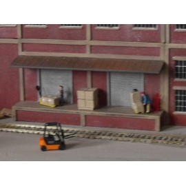 Brick industrial low relief loading bay