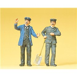 G scale (Garden) Engine Driver and Fireman Figure Set(2) Two Men by Preiser