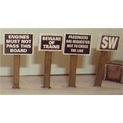 OO Gauge Painted Trackside signs