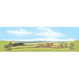 Scenic Background - Country Landscape - 228 x 737mm - Paper