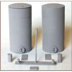 Oil-liquid powder tanks