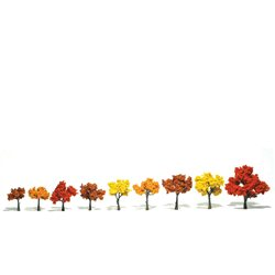 3-5in. Fall Mix Trees - Pack Of 6