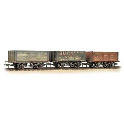 Coal Trader' Triple Pack 7 Plank Private Owner Wagons
