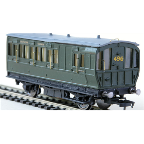 LBSCR 3rd/Brake 4 Wheel Stroudley Coach