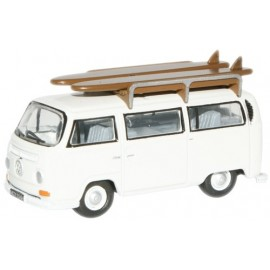 VW Bus Bay Window Pastel White