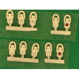GWR Head & Tail lamps white (10)