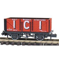7 Plank Coal Wagon I.C.I. Salt Stafford No330, Red